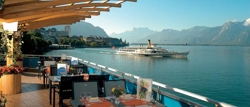 Hotel Eurotel Riviera, Montreux, Switzerland - lakeside terrace.jpg